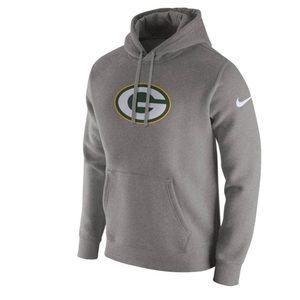 NWOT Nike Green Bay Packers Logo Club Hoodie